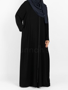 Sunnah Style - Essentials Full Zip Abaya (Black)