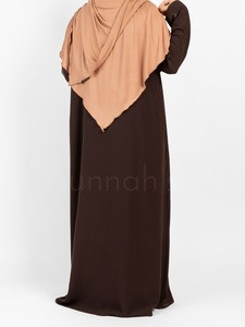 Sunnah Style - Essentials Full Zip Abaya (Espresso)