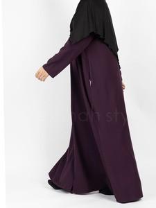 Sunnah Style - Essentials Full Zip Abaya (Eggplant)