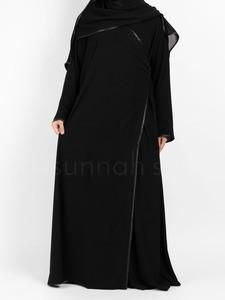 Sunnah Style - Satin Trimmed Crossover Abaya