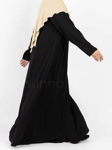 Sunnah Style - Essentials Snap-Front Abaya (Black)