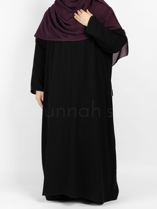 Sunnah Style - Essentials Closed Abaya - PLUS (Black)