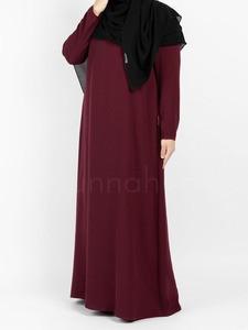 Sunnah Style - Essentials Closed Abaya - SLIM (Burgundy)
