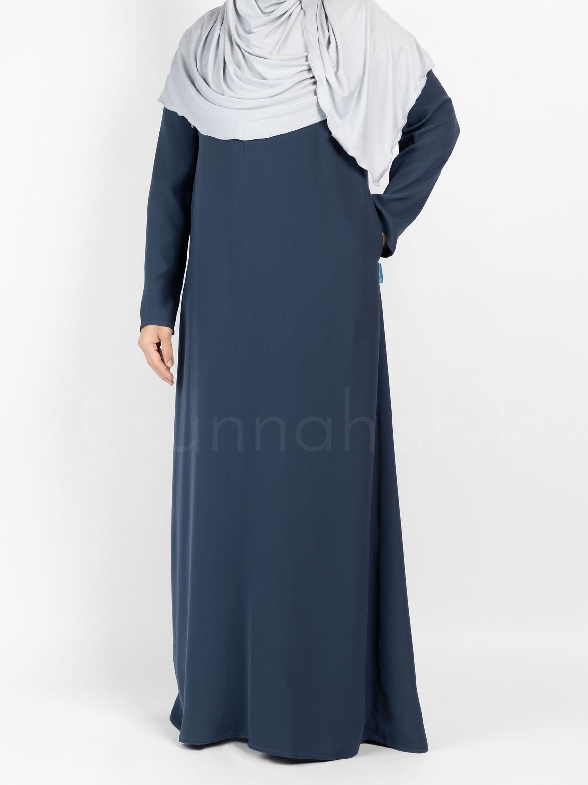 Sunnah Style - Essentials Closed Abaya - SLIM (Steel Blue)