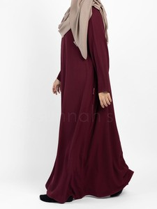 Sunnah Style - Essentials Closed Abaya (Burgundy)