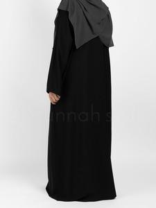 Sunnah Style - Plain Closed Abaya (Black)