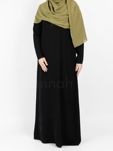 Sunnah Style - Essentials Closed Abaya - SLIM (Black)