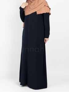 Sunnah Style - Essentials Full Zip Abaya - SLIM (Navy Blue)