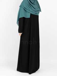 Sunnah Style - Plain Closed Abaya - SLIM (Black)