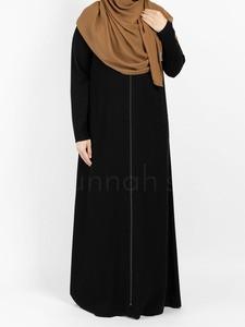 Sunnah Style - Essentials Full Zip Abaya - SLIM (Black)