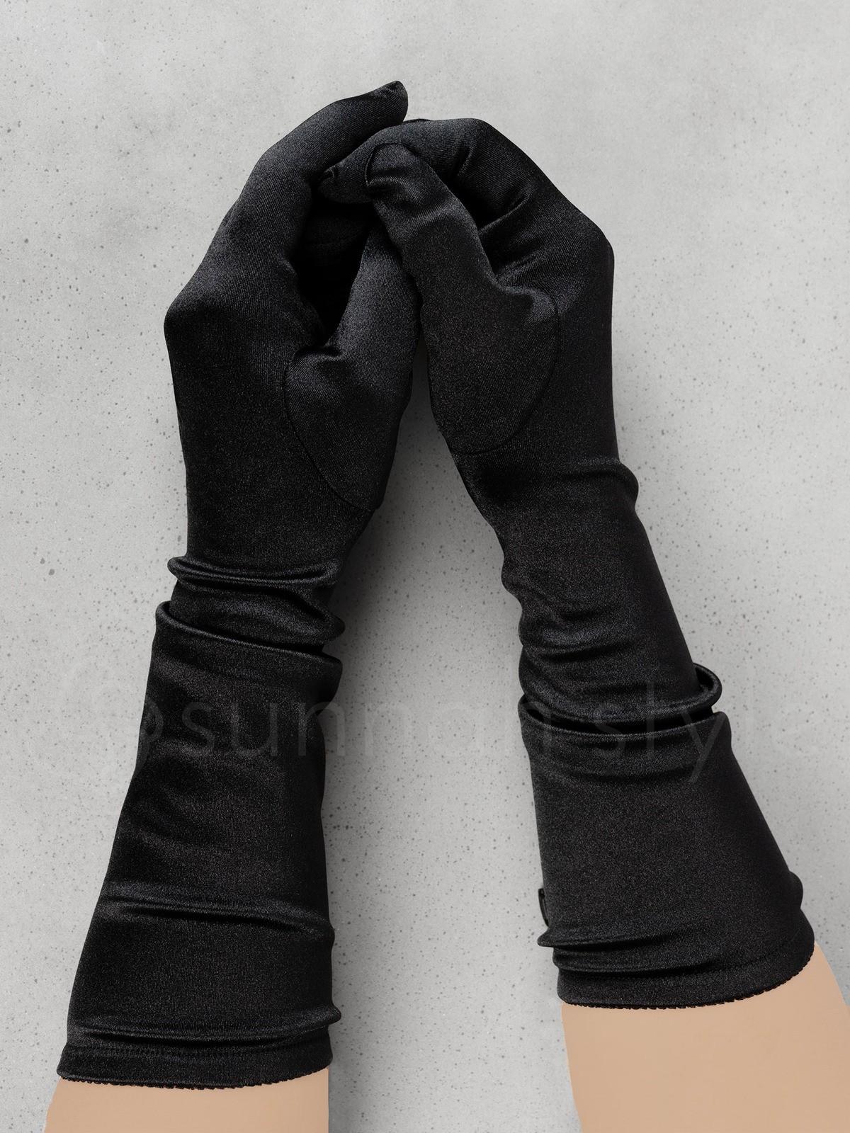 Sunnah Style - Lush Satin Gloves - Forearm Length