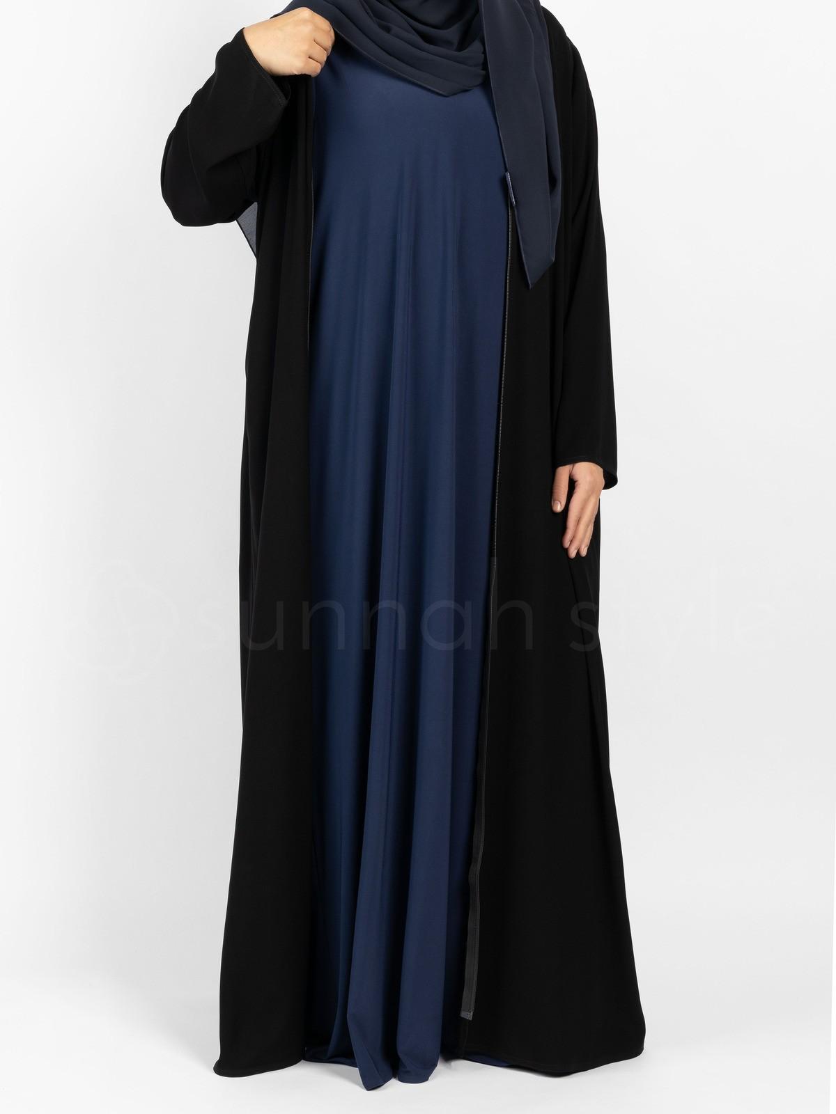 Sunnah Style - Sleeveless Jersey Abaya (Navy Blue)