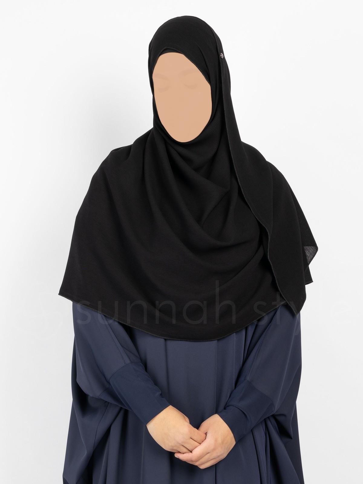 Sunnah Style - Brushed Shayla - Large (Black)