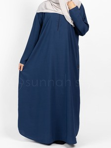 Sunnah Style - Plain Closed Abaya (Marine Blue)
