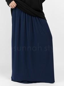 Sunnah Style - Jersey Maxi Skirt (Navy Blue)