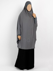 Sunnah Style - Signature Jilbab Top - Knee Length (Pewter)