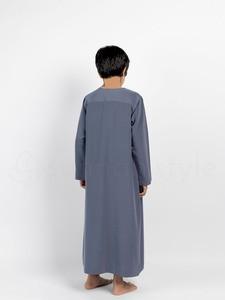 Sunnah Style - Boys Short Zip Thobe (Slate Grey)
