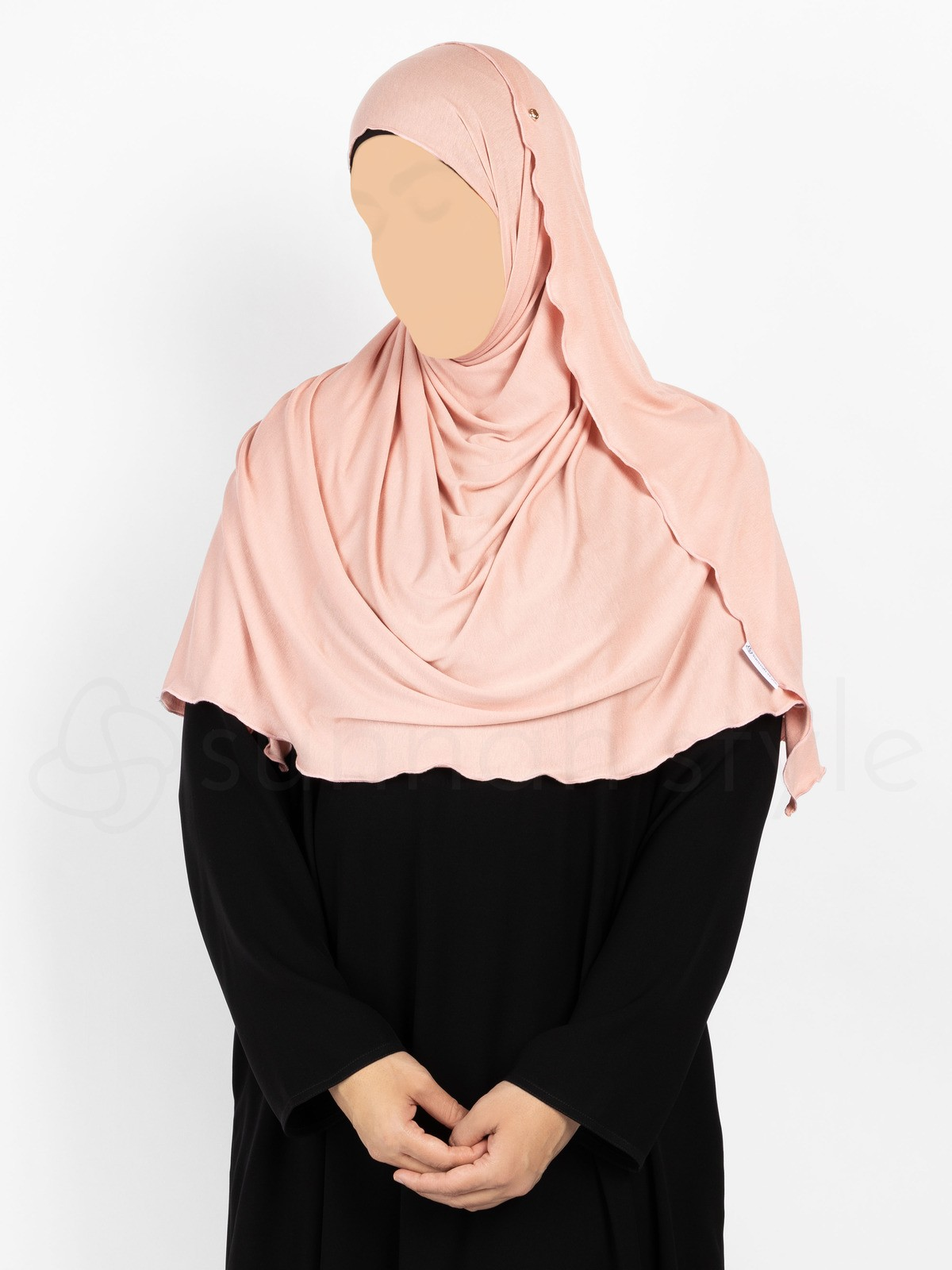 Sunnah Style Urban Shayla (Soft Jersey) - Large (Light Coral)