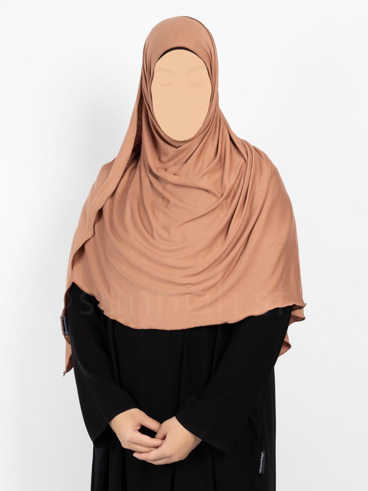 Sunnah Style Urban Shayla (Soft Jersey) - Large (Terracotta)