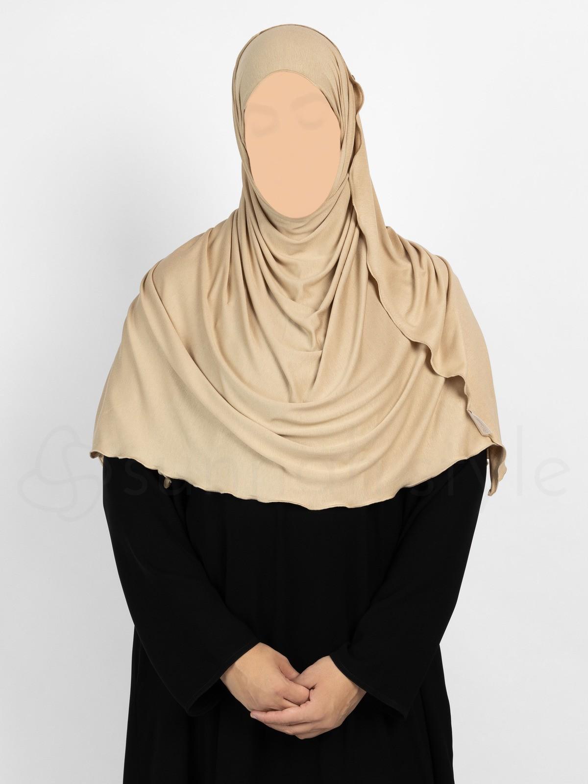 Sunnah Style Urban Shayla (Soft Jersey) - Large (Sand)