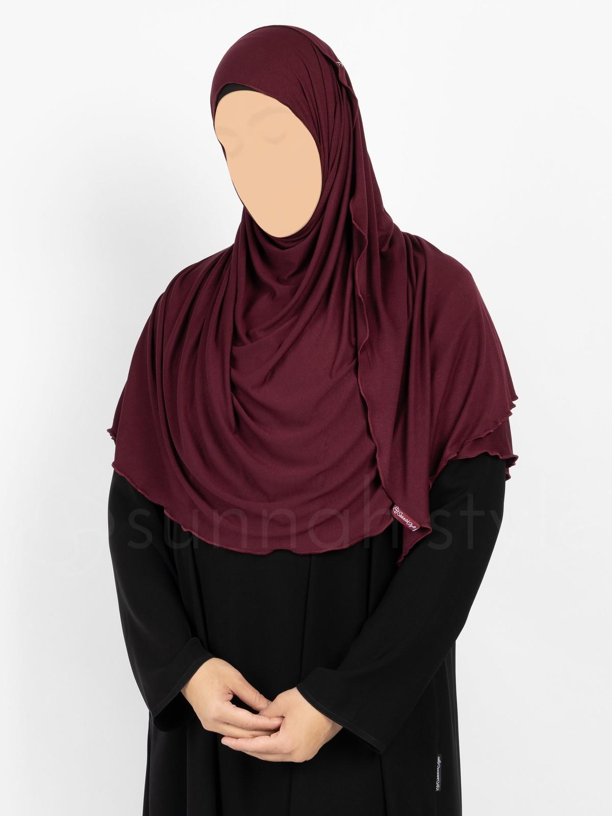 Sunnah Style Urban Shayla (Soft Jersey) - Large (Plum)