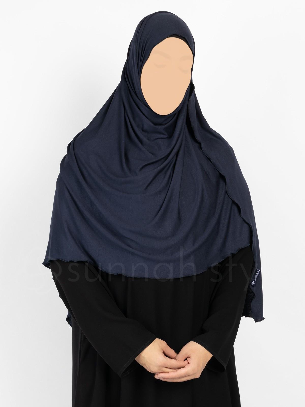 Sunnah Style Urban Shayla (Soft Jersey) - Large (Navy Blue)