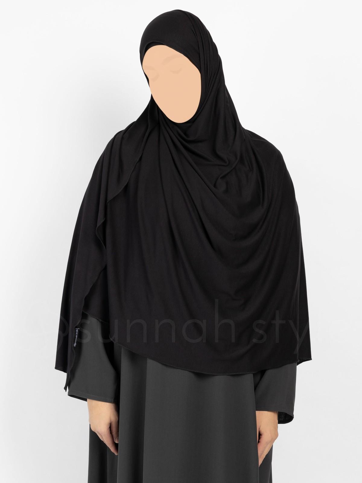 Sunnah Style - Urban Shayla (Soft Jersey) - XL (Black)