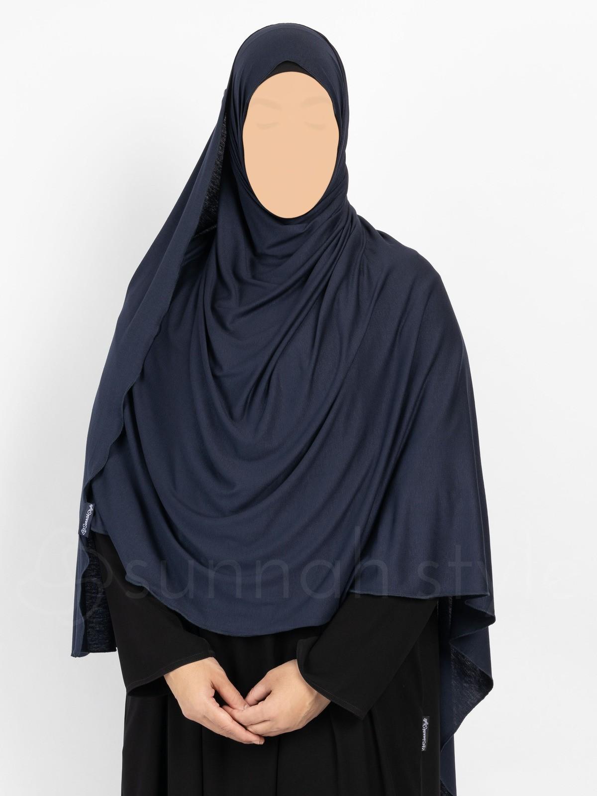 Sunnah Style - Urban Shayla (Soft Jersey) - XL (Navy Blue)
