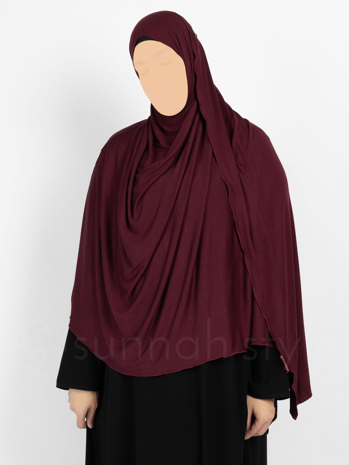 Sunnah Style - Urban Shayla (Soft Jersey) - XL (Plum)