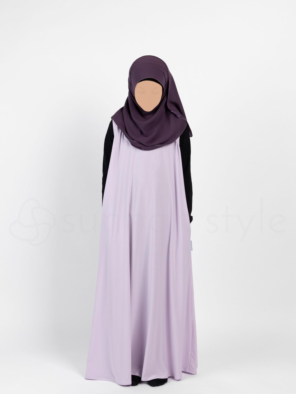 Sunnah Style - Girls Sleeveless Jersey Abaya (Lavender)