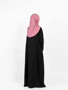Sunnah Style - Girls Essentials Full Zip Abaya (Black)