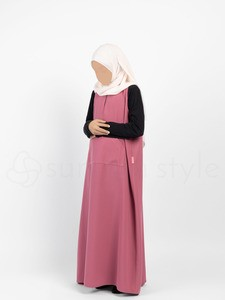Sunnah Style - Girls Essentials Sleeveless Abaya (Desert Rose)