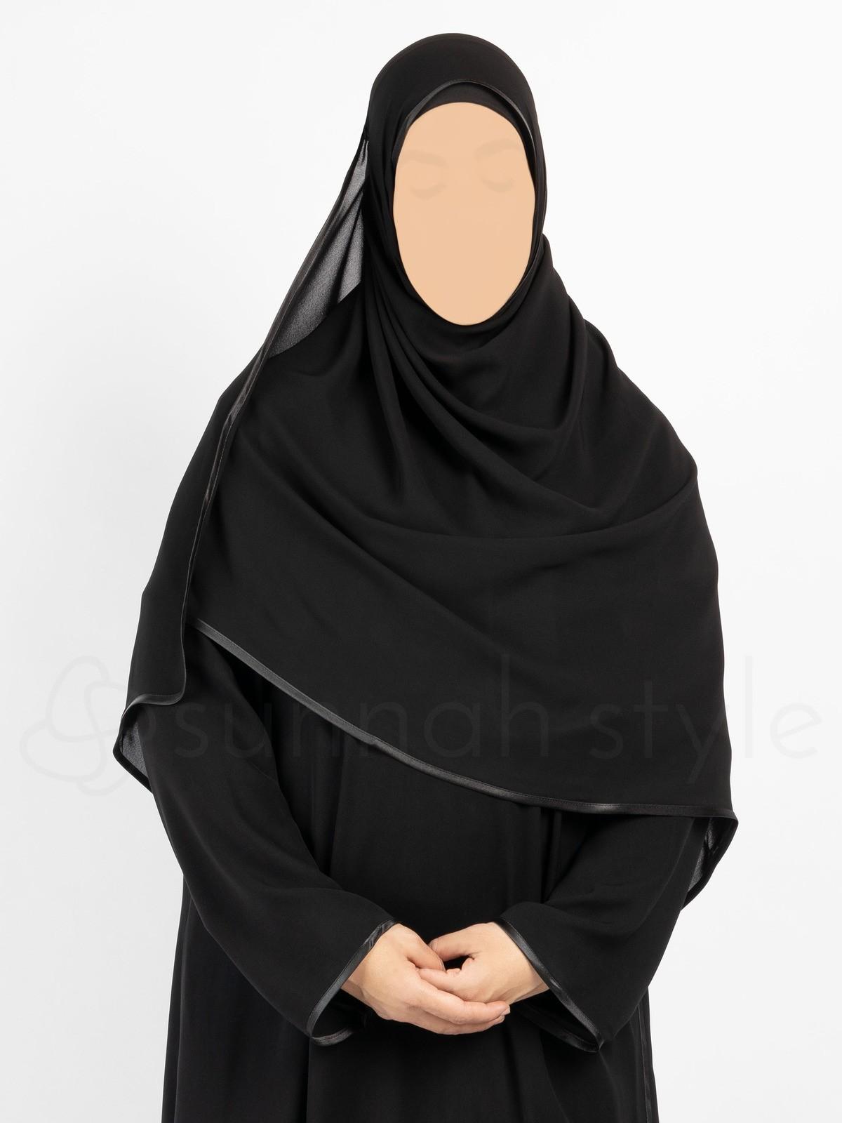 Sunnah Style - Satin Trimmed Shayla - Large (Black)