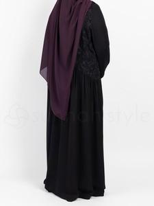 Sunnah Style - Floral Umbrella Abaya (Black)