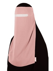 No-Pinch One Piece Niqab (Blush)