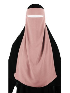 Long One Piece Niqab (Blush)