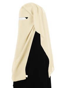 Narrow No-Pinch Two Piece Niqab (Vanilla Cream)