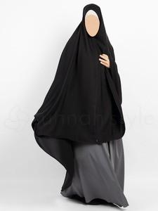 Sunnah Style - Essentials Khimar - Full Length TALL (Black)