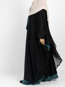 Sunnah Style - Shadow Chiffon Robe (Black)