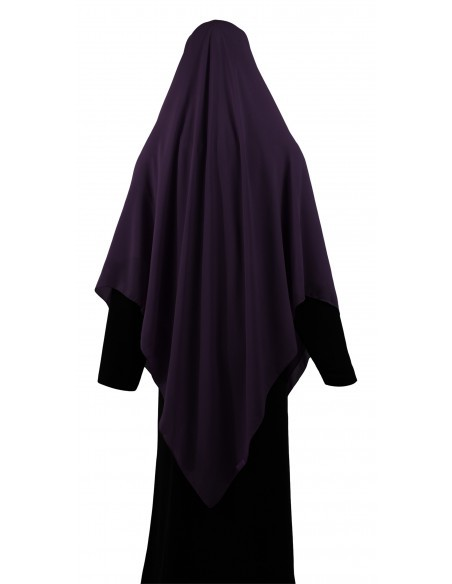 Essential Square Hijab - Extra Large (Eggplant)