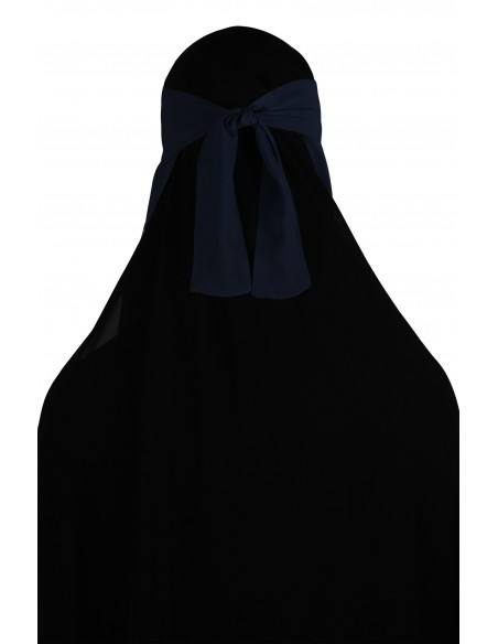No-Pinch One Piece Niqab (Navy Blue)