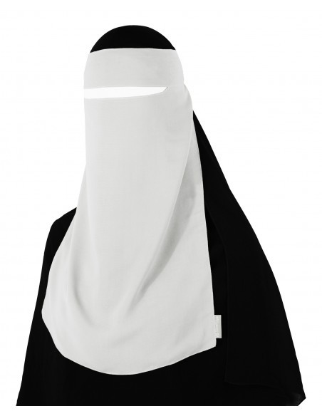 Narrow No-Pinch One Piece Niqab (White)