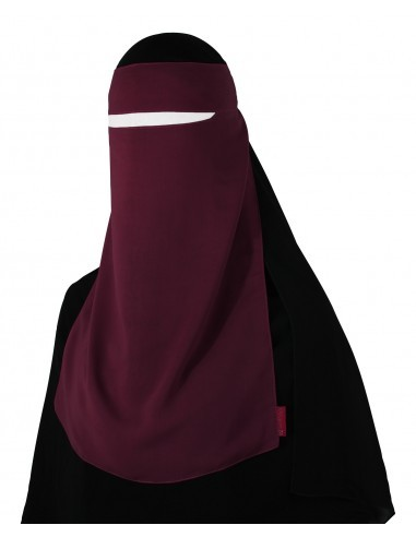 Narrow No-Pinch One Piece Niqab (Burgundy)