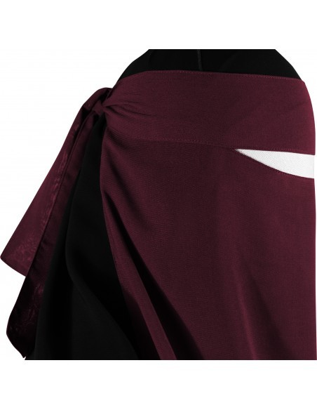 Long One Piece Niqab (Burgundy)