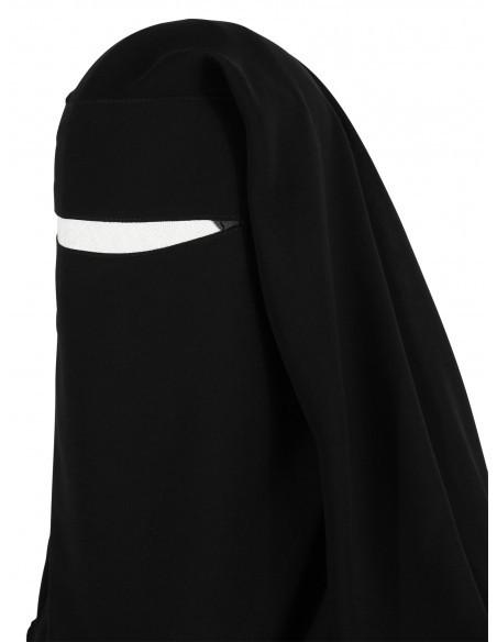Two Layer Snapp Niqab (Black)