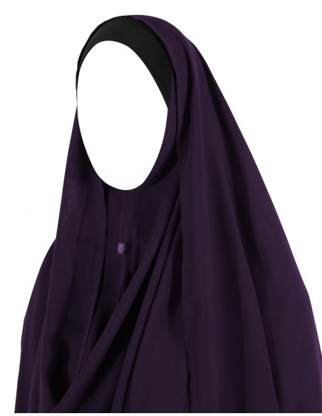 Hooded Wrap Hijab (Eggplant)
