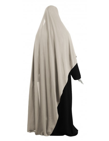 Hooded Wrap Hijab (Sahara) - Wrapped Tight