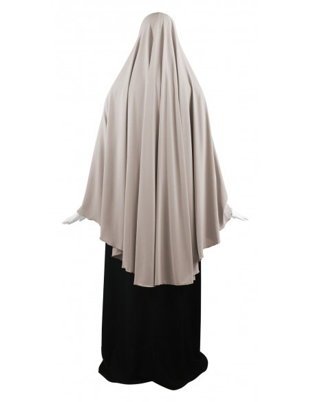 Jersey Khimar - Thigh Length (Latte)