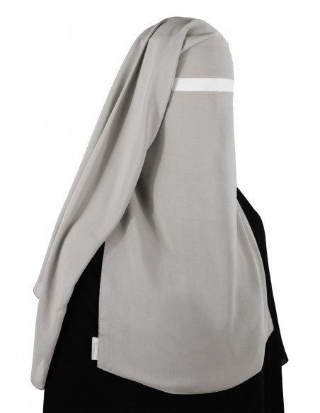 No-Pinch Two Piece Niqab (Smoke)