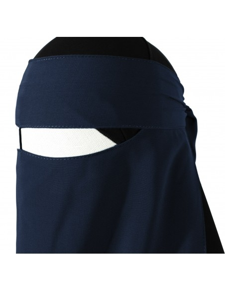 One Piece Niqab /w Nose String (Navy Blue)